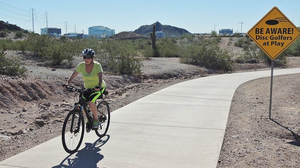Crosscut Canal Path Southern end of Papago Park Great off road path with moderate elevation changes.