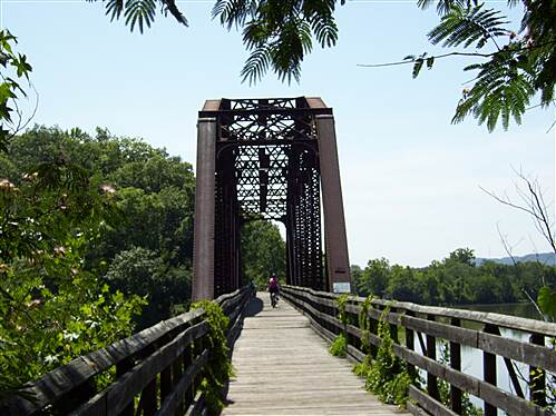 Cumberland River Bicentennial Trail  Wonderful old rail trestle on CRT Great views of the river from this old trestle!