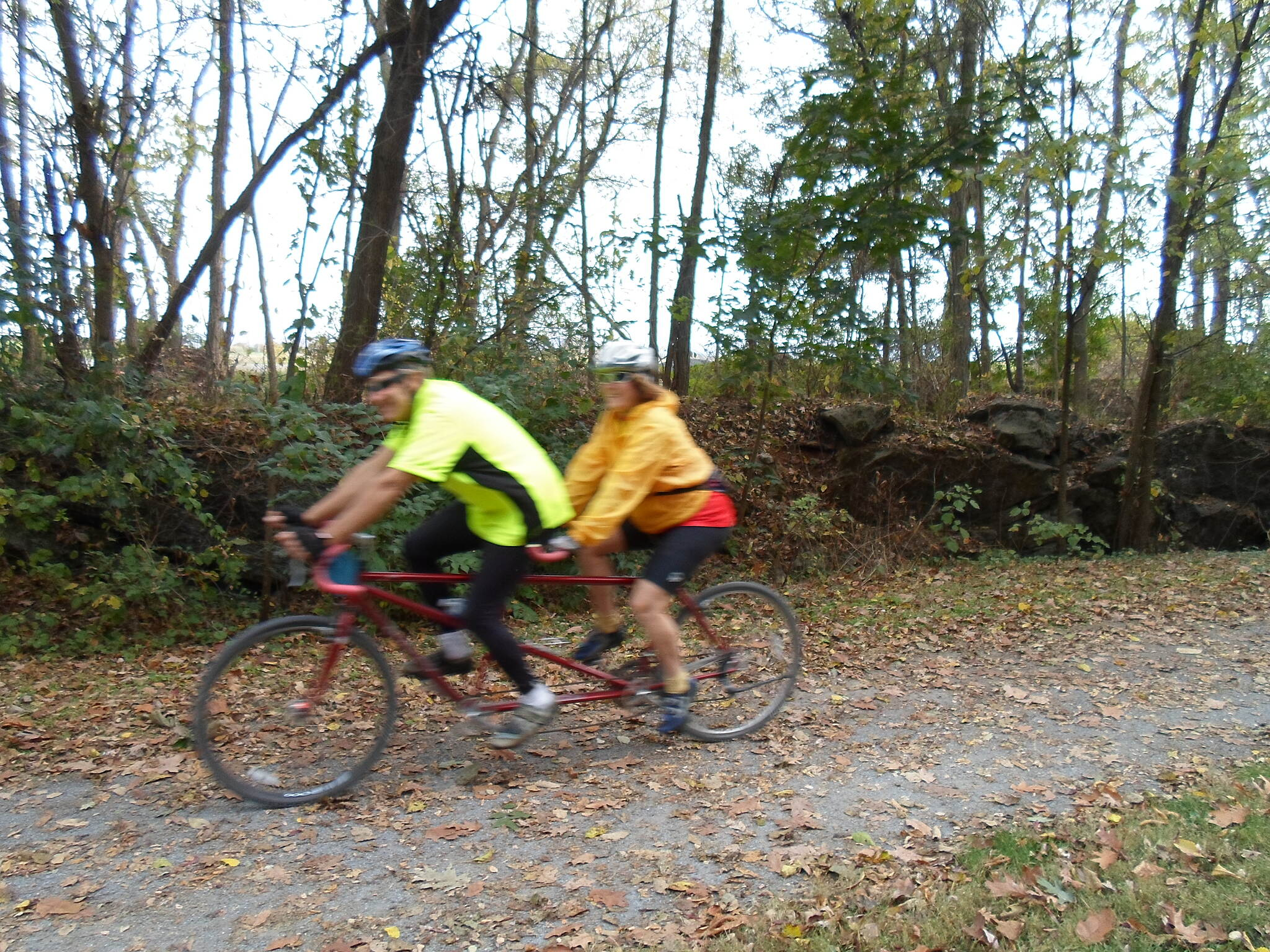Cumberland Valley Rail Trail Cumberland Valley Rail Trail Tandem riders southwest of Britton Road.