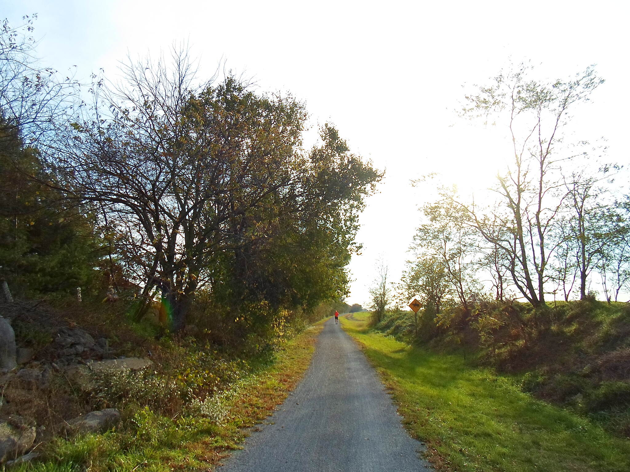 Cumberland Valley Rail Trail Cumberland Valley Rail Trail Heading southwest down the trail on an autumn evening. Taken Oct. 2016.