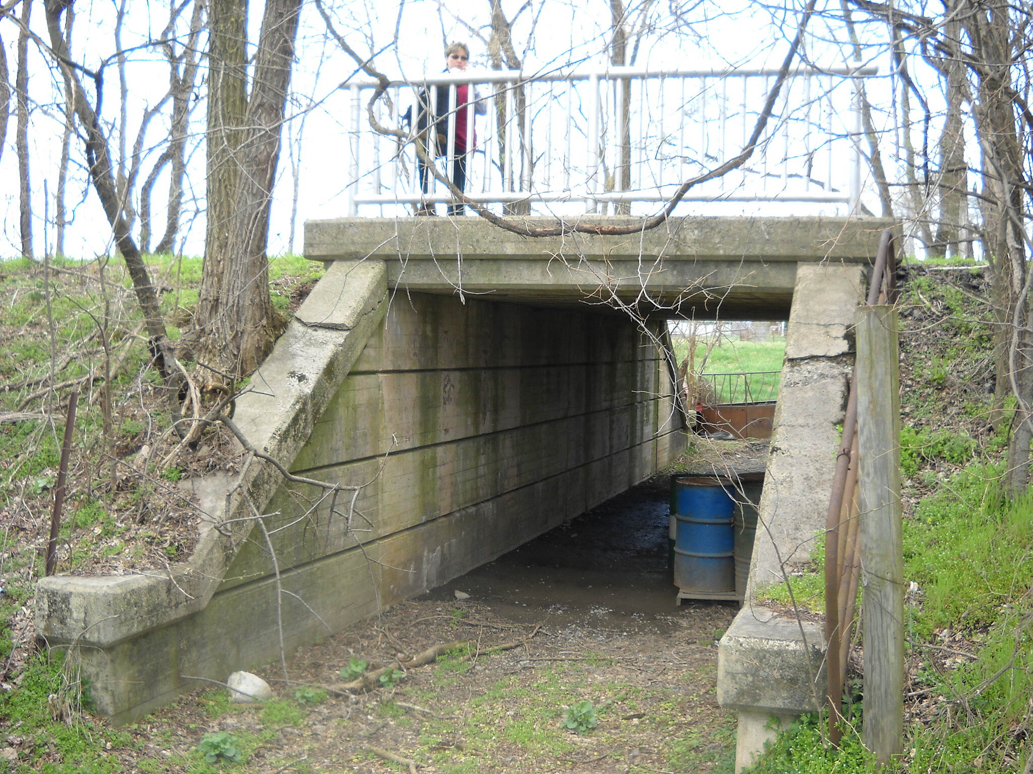 Cumberland Valley Rail Trail Farm access underpass near Bullshead Rd