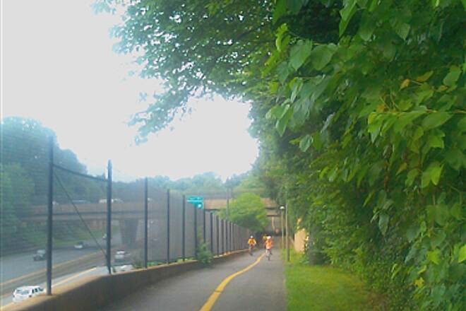Custis Trail Continuing along highway Continuing along route 66 (this time going down hill)