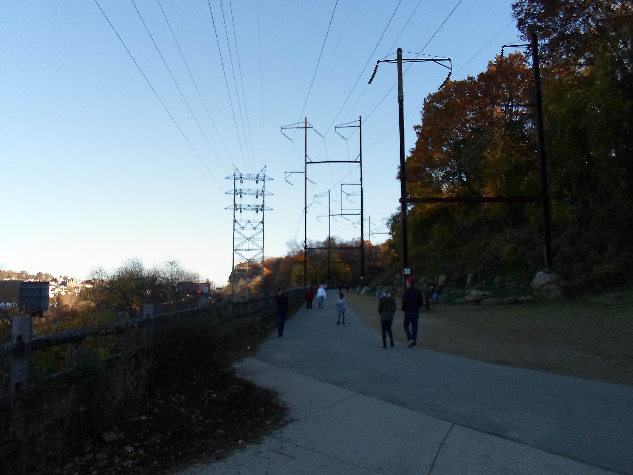 Cynwyd Heritage Trail Cynwyd Heritage Trail Looking south along the trail at the junction with the Manayunk trestle.