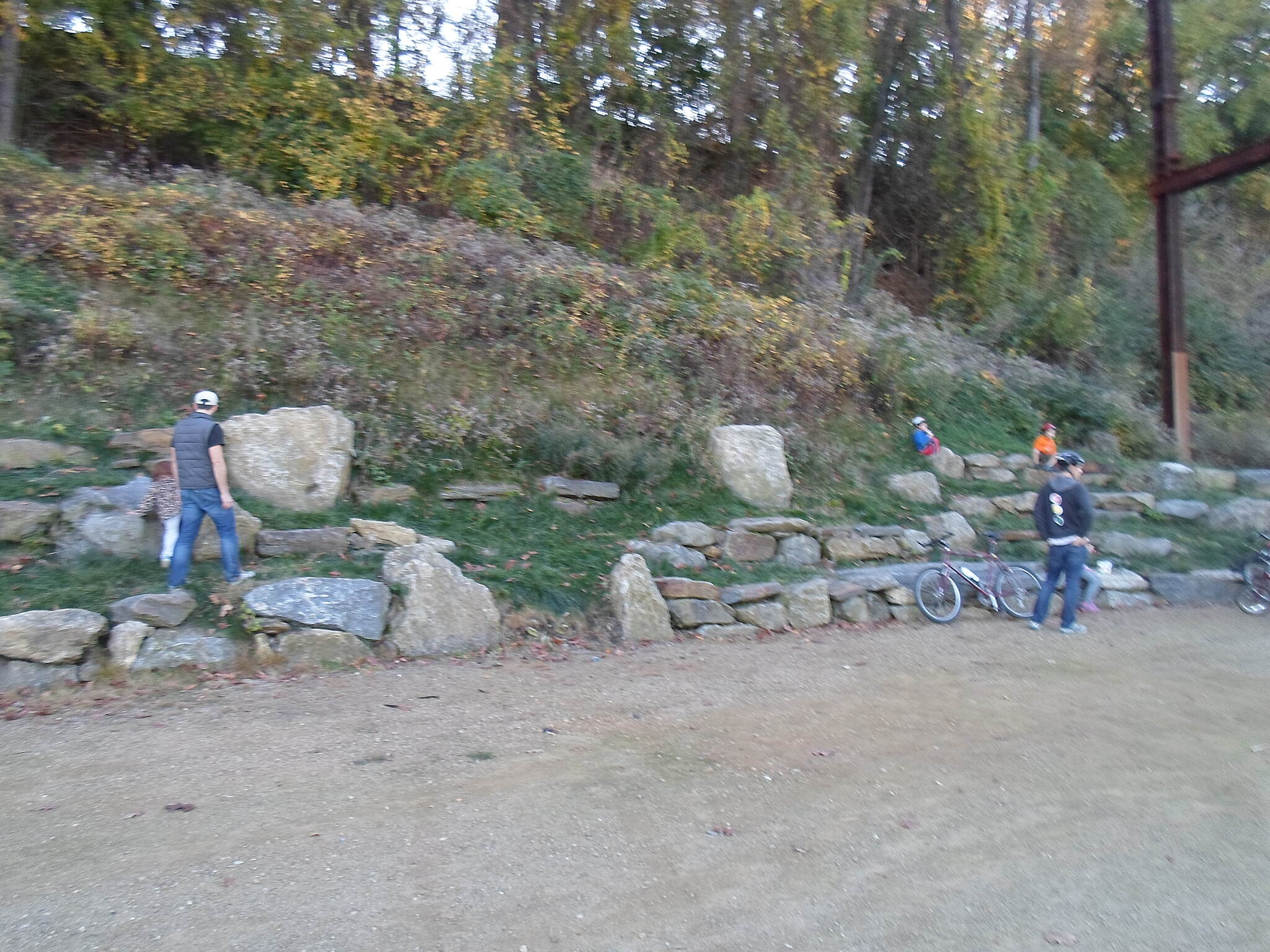 Cynwyd Heritage Trail Cynwyd Heritage Trail Both children and adults enjoy playing on the rocks just south of the Manayunk Trestle. Taken Nov. 2015.