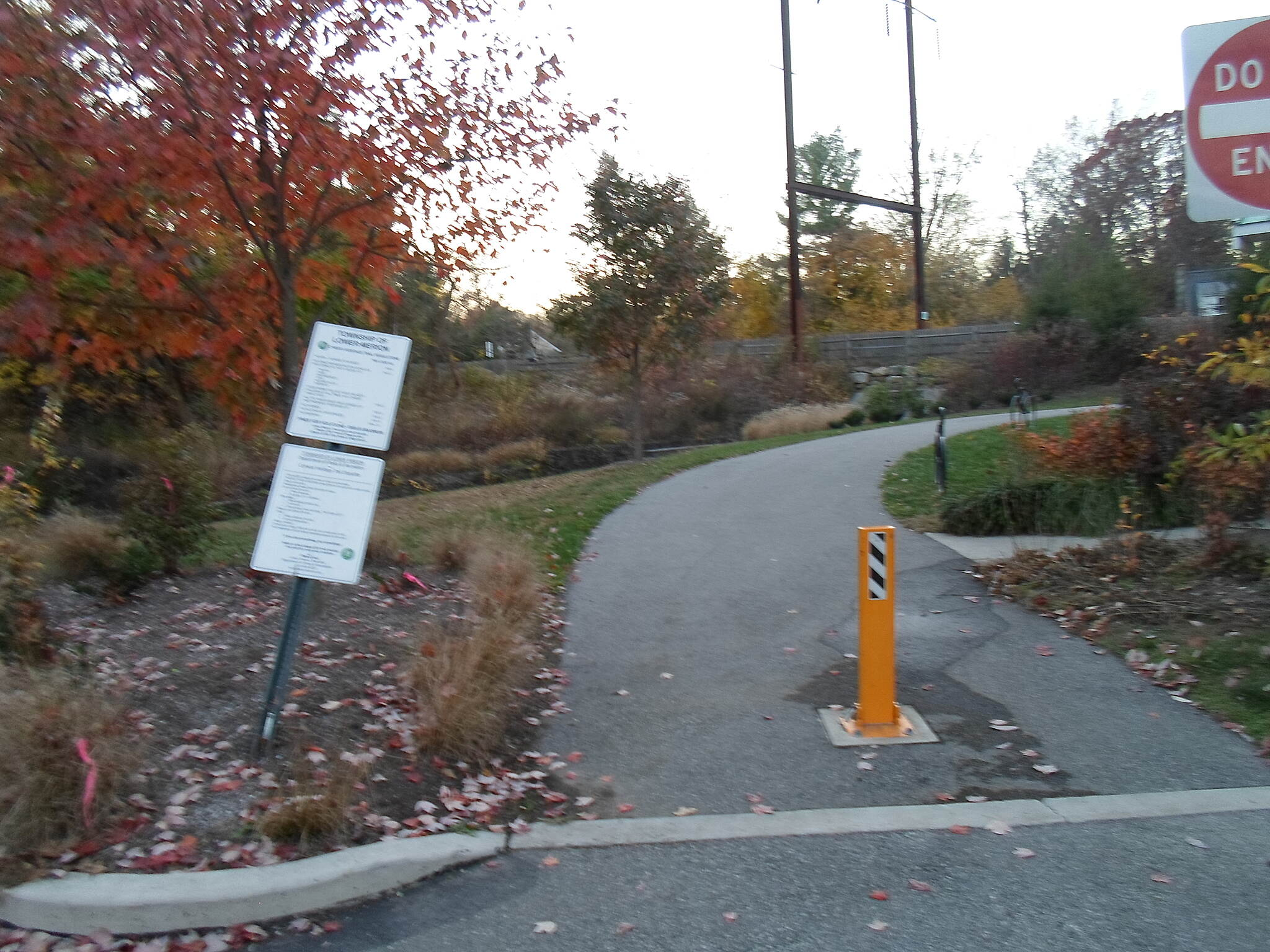 Cynwyd Heritage Trail Cynwyd Heritage Trail Access path to the trail from Lower Merion Township Park; taken Nov. 2015.
