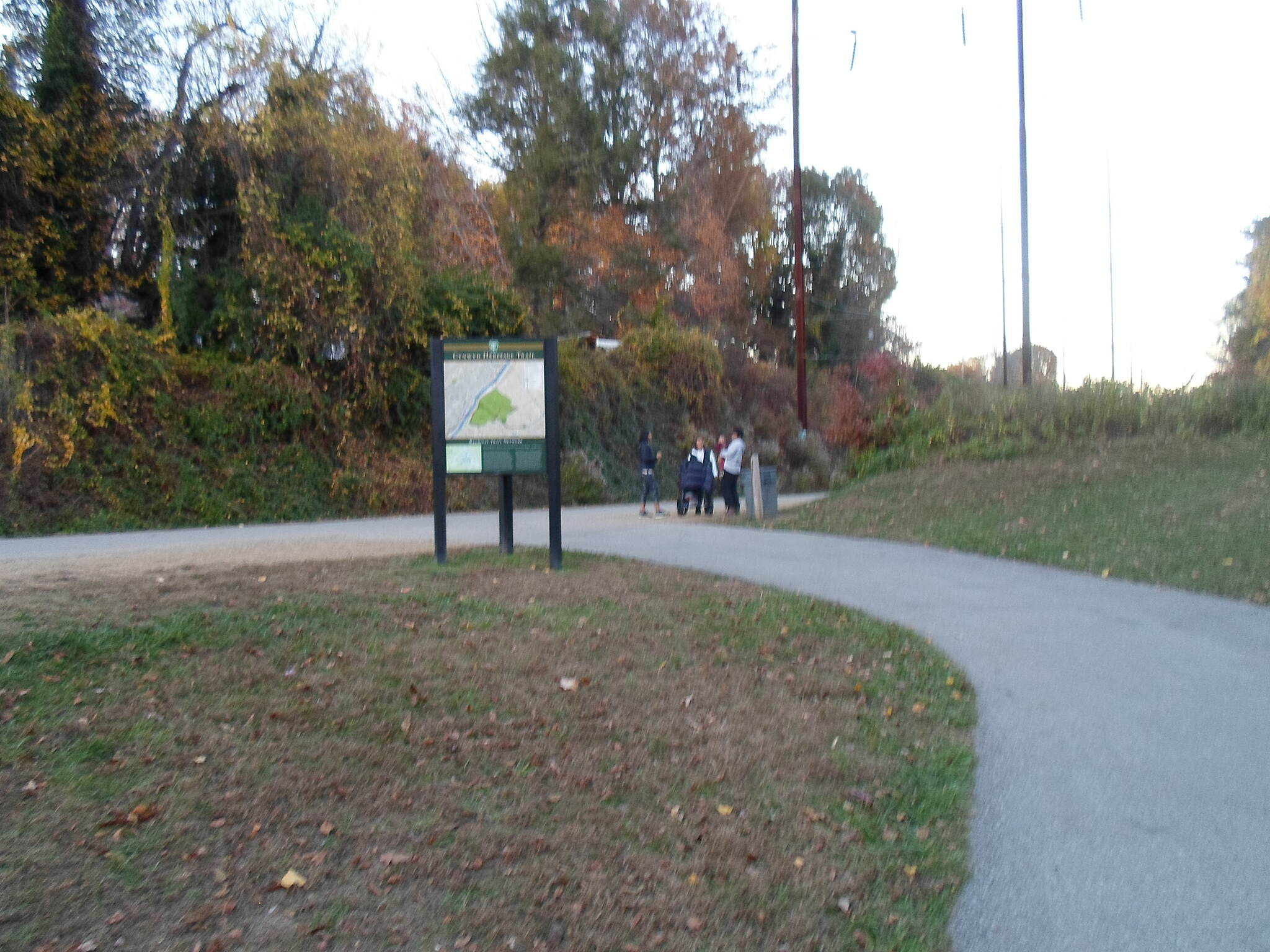 Cynwyd Heritage Trail Cynwyd Heritage Trail Family gathering and chatting at the junction of the trail and the access path to Lower Merion Twp. Park.