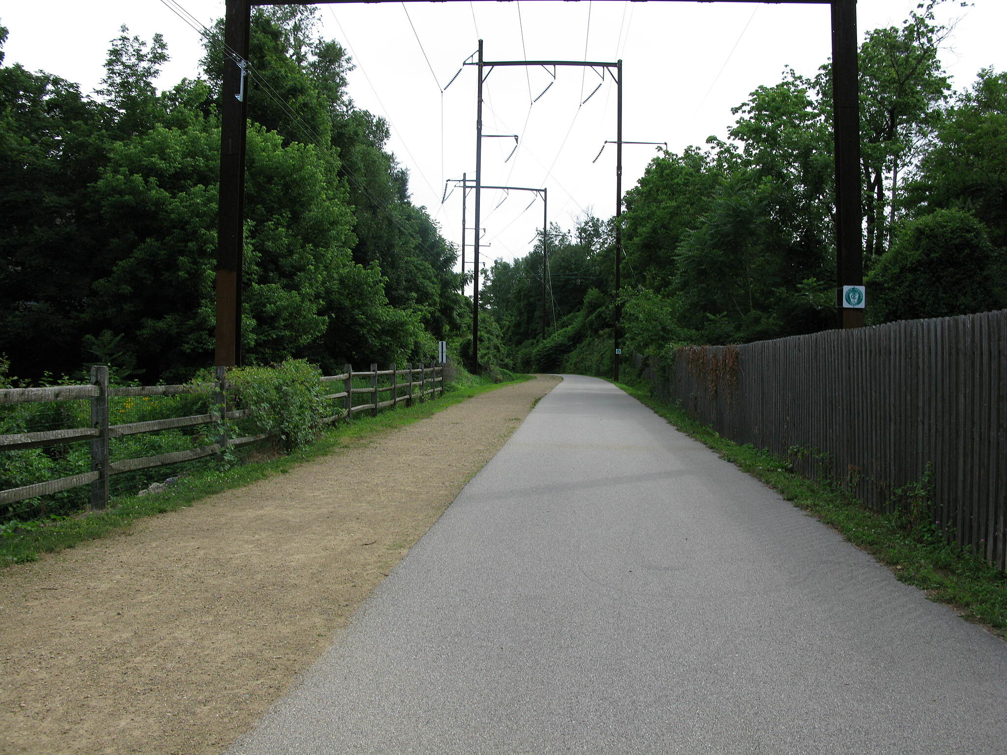 Cynwyd Heritage Trail Cynwyd Heritage Trail Asphalt and crushed stone pavements, seen side by side south of Lower Merion Twp. Park.