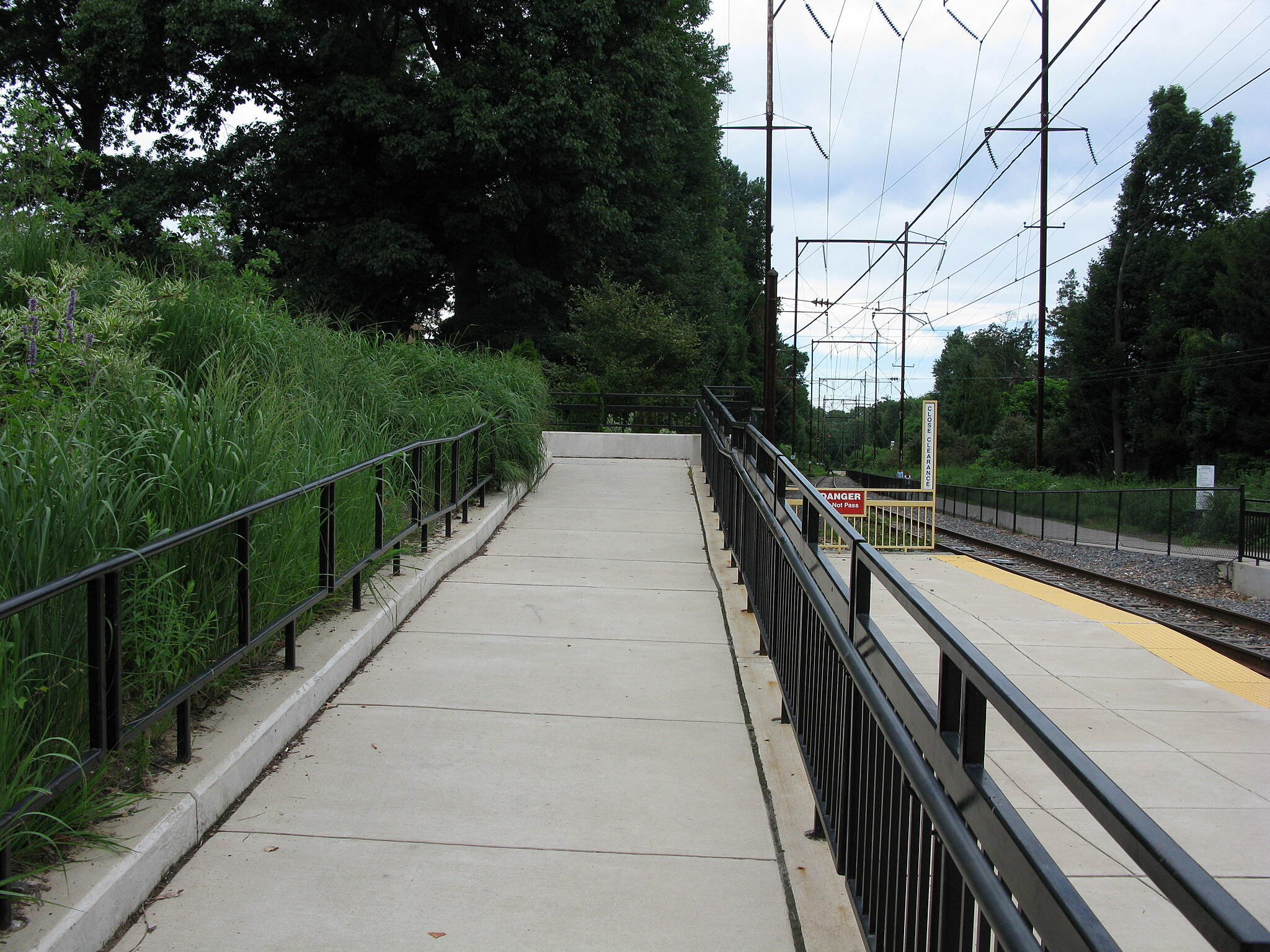 Cynwyd Heritage Trail Cynwyd Heritage Trail Switchback ramp connecting Cynwyd Station with the SEPTA line and trail.