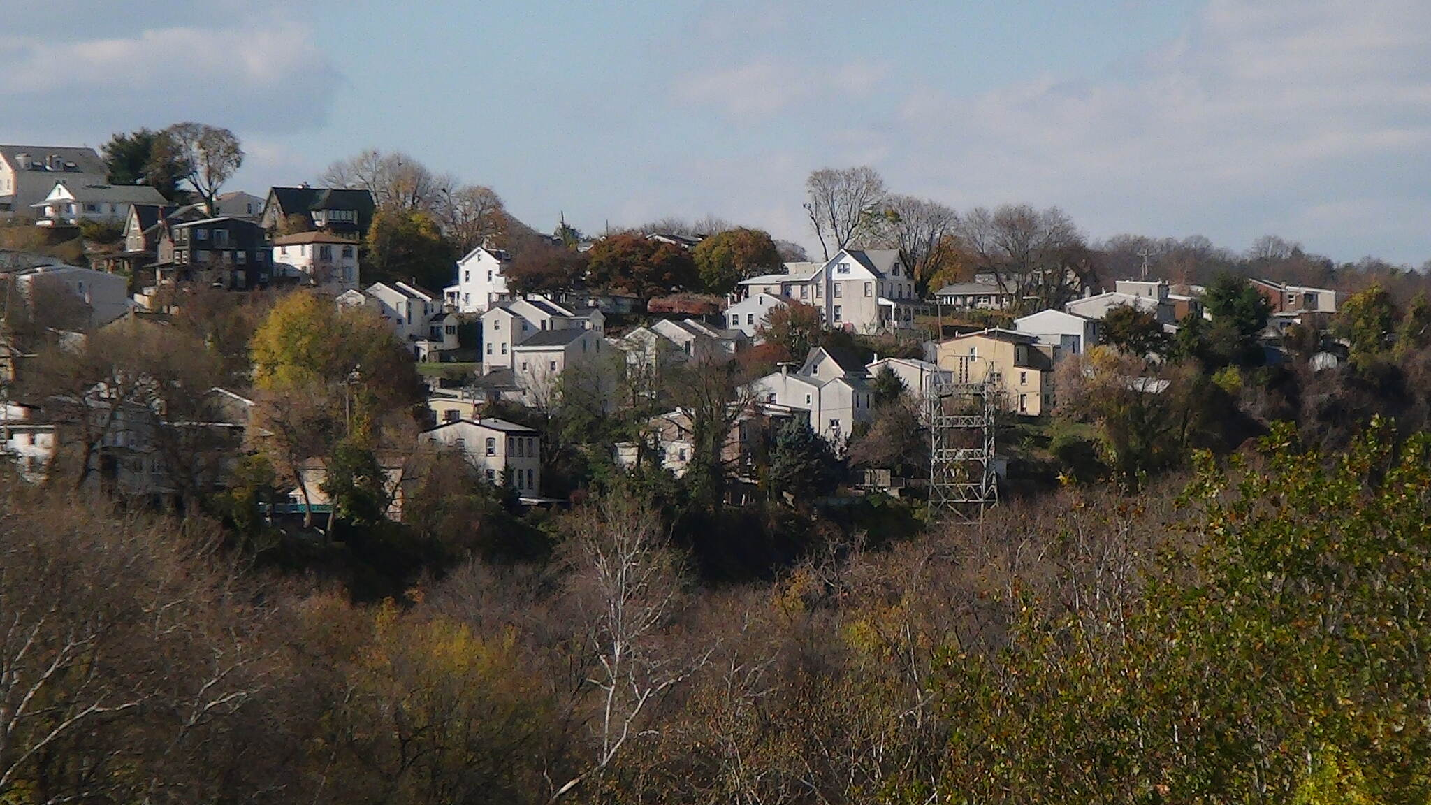 Cynwyd Heritage Trail West Manayunk This photo shows some of the homes on the hills. Some of the residents prefer Belmont Hills, though.