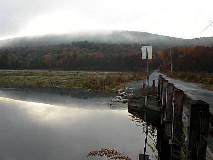 D & H Canal Trail - Bashakill Wildlife Management Area Bridge on Haven Road A view of the Bashakill Wildlife Management Area from a bridge on Haven Road early in the morning in October.