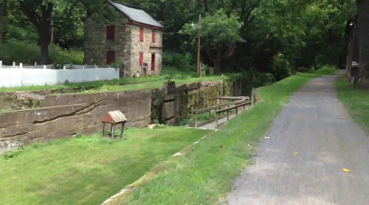 D & L Trail - Lehigh Canal South Freemansburg 7/13/16 This is about 7 miles from western start in Allentown. Smooth sailing through here. The trail is nice. 7/13/16. Very beautiful.