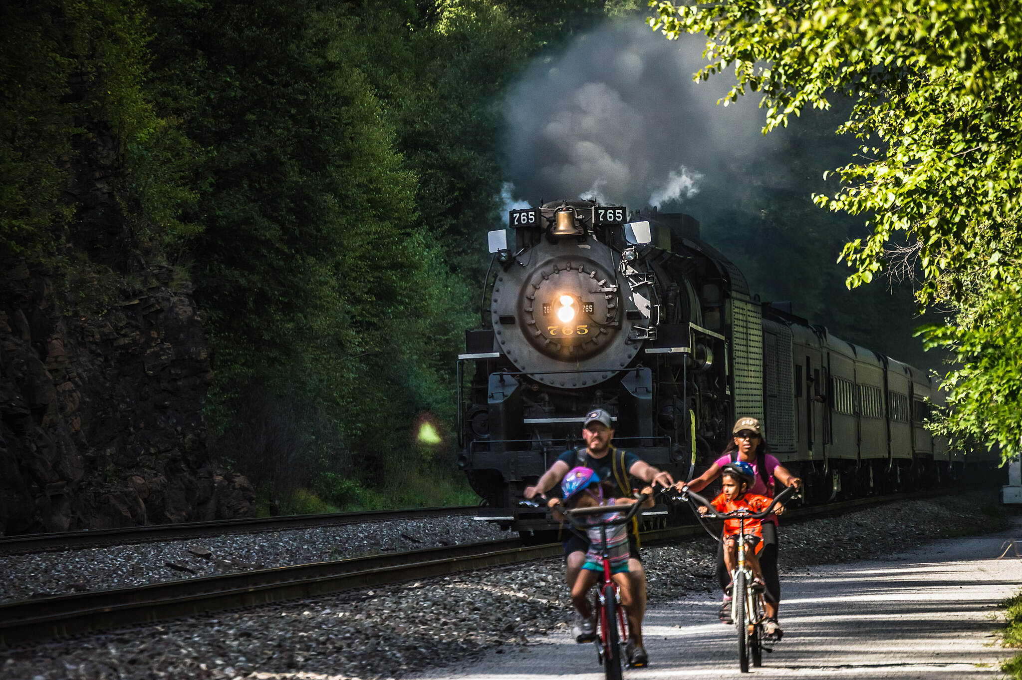 D & L Trail - Lehigh Gorge State Park Trail Nickel Plate Road 765  Caught this Train on a return trip to Allentown in August of 2015