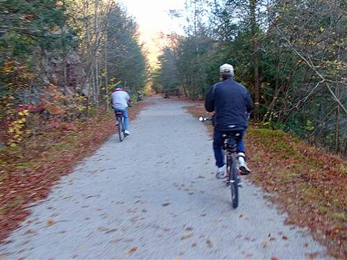 D & L Trail - Lehigh Gorge State Park Trail  Bill and Lee on the trail