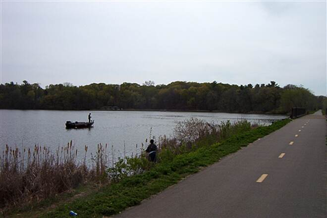 Dakota Rail Regional Trail Fishing Anyone? One of many fishing spots.