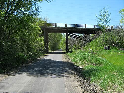 Dakota Rail Regional Trail   Going under CR 10 bridge (soon to be re-constructed).