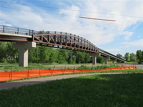 Dakota Rail Regional Trail   New bridge crosses busy Hwy 7 in St. Boni.