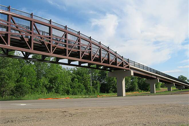 Dakota Rail Regional Trail   Panoramic view of new bridge.