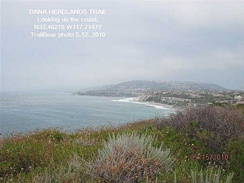 Dana Point Headlands Trail DANA HEADLANDS TRAIL, DANA PT., CA. The view toward Laguna Beach.