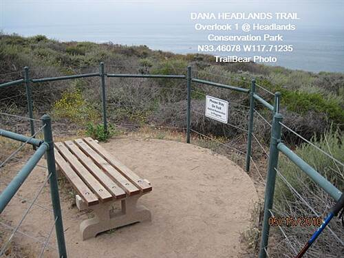 Dana Point Headlands Trail DANA HEADLANDS TRAIL, DANA PT., CA. The first of the overlooks.