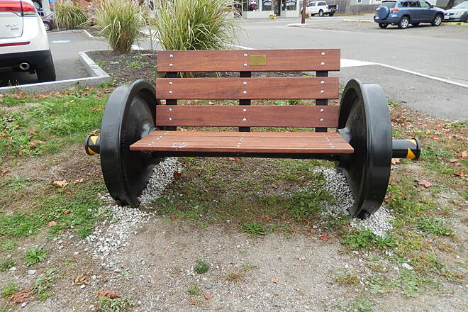 "Danvers Rail Trail ""WHEELY"" NEAT SEAT! WHAT A GREAT PLACE TO REST YOUR CABOOSE !"