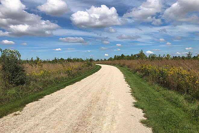 Darby Creek Trail Little Trail on the Prairie A view of the trail through Battelle Darby Creek Metro Park.  September 16, 2018