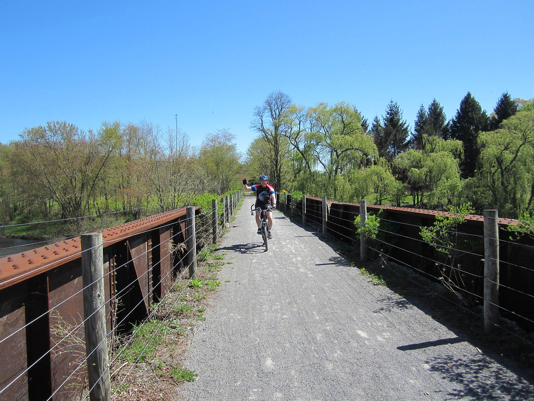 David S. Ammerman Trail (formerly Clearfield to Grampian Trail) Crossing the River West Branch Susquehanna River between Clearfield and Curwensville.