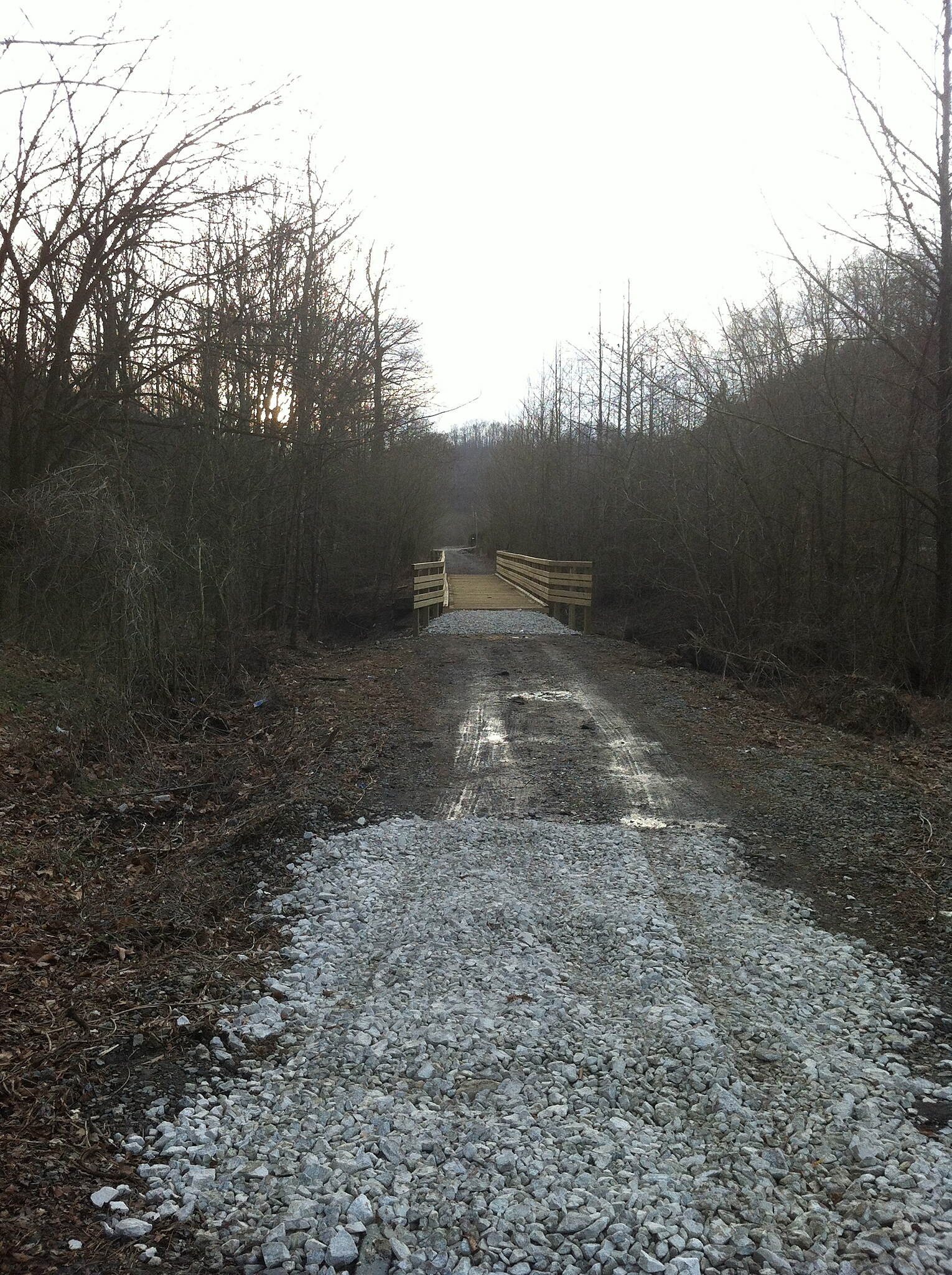 Dawkins Line Rail Trail Bridge just south of US 23