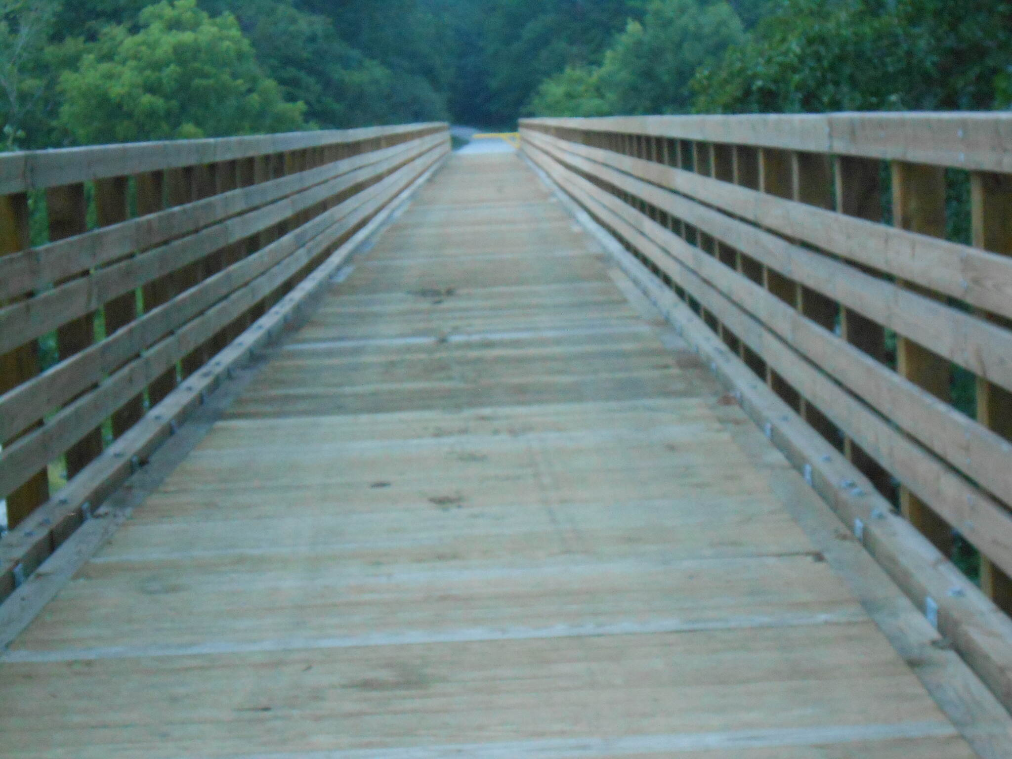 Dawkins Line Rail Trail Bridge over highway 460