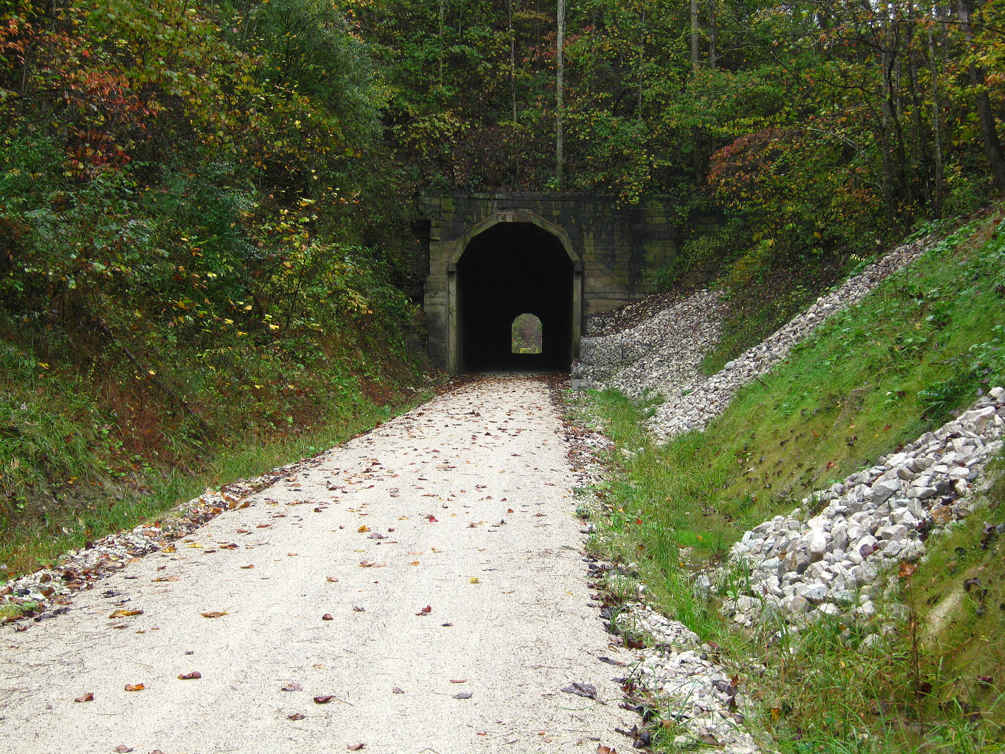 Dawkins Line Rail Trail Ivyton tunnel