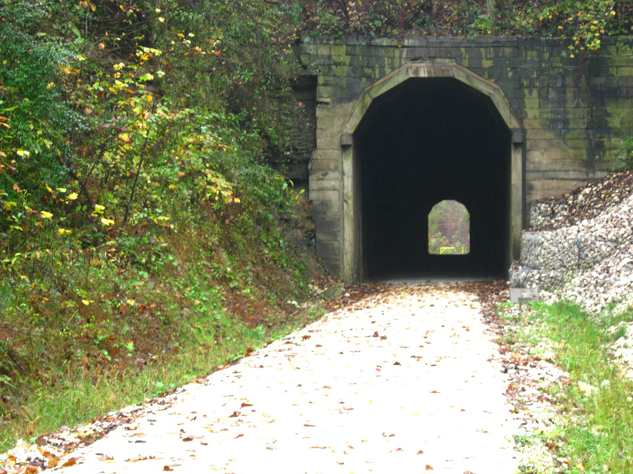 Dawkins Line Rail Trail tunnel