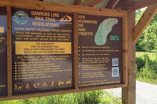 Dawkins Line Rail Trail Info Good info for users