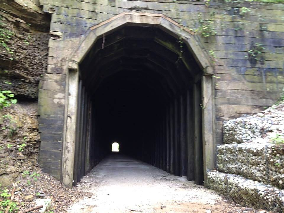 Dawkins Line Rail Trail Tunnel on the trail Great tunnel...a lot of history