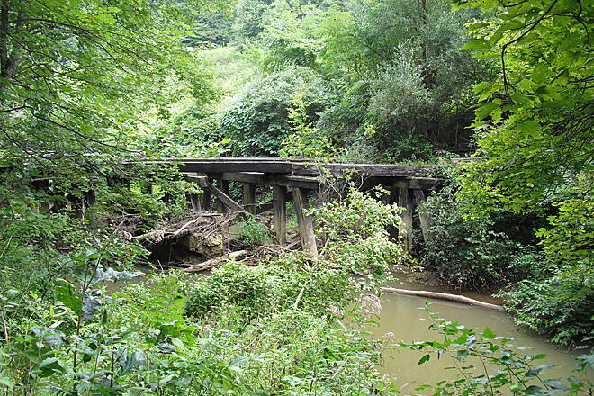 Deckers Creek Trail Deckers Creek Trail Old bridge remnants.