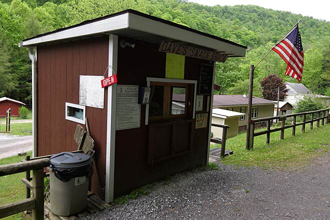 Deckers Creek Trail Dave's Snack Shop A Welcome Rest Stop on Deckers Creek Trail