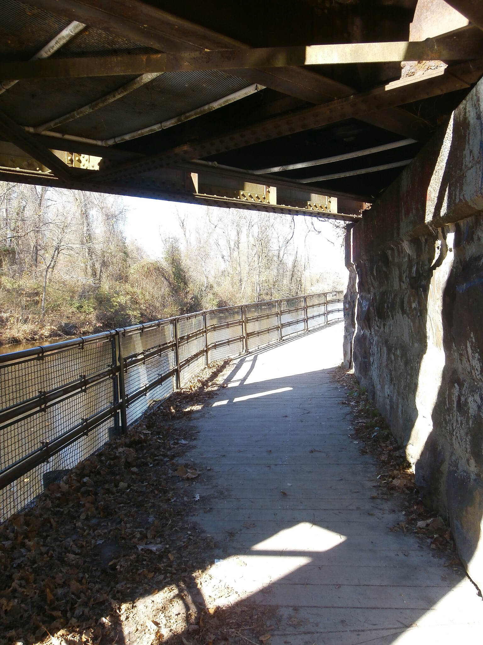 Delaware and Raritan Canal State Park Trail Duck For all you tall folks..........remeber to duck when riding under the train trestle