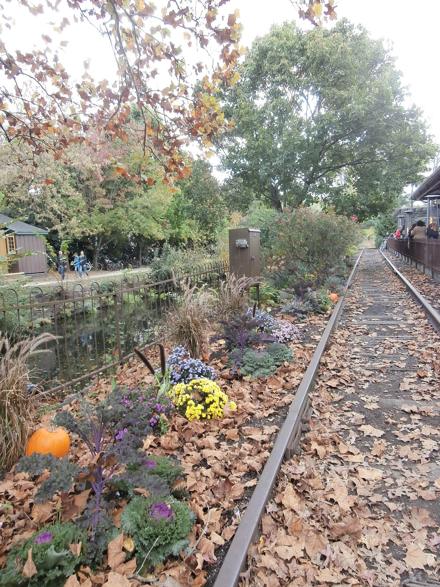 Delaware and Raritan Canal State Park Trail Lambertville Scenic fall photo near the Lambertville Station Restaurant