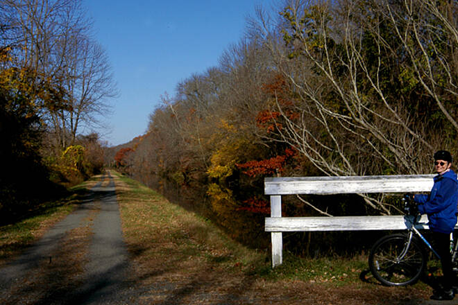 Delaware and Raritan Canal State Park Trail The canal path in late fall.