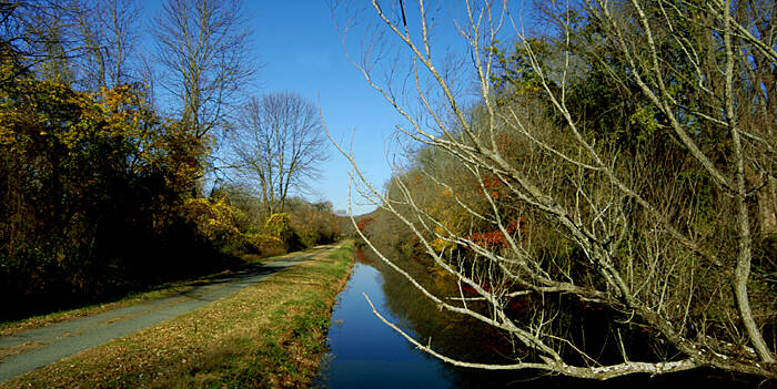 Delaware and Raritan Canal State Park Trail The canal in late fall
