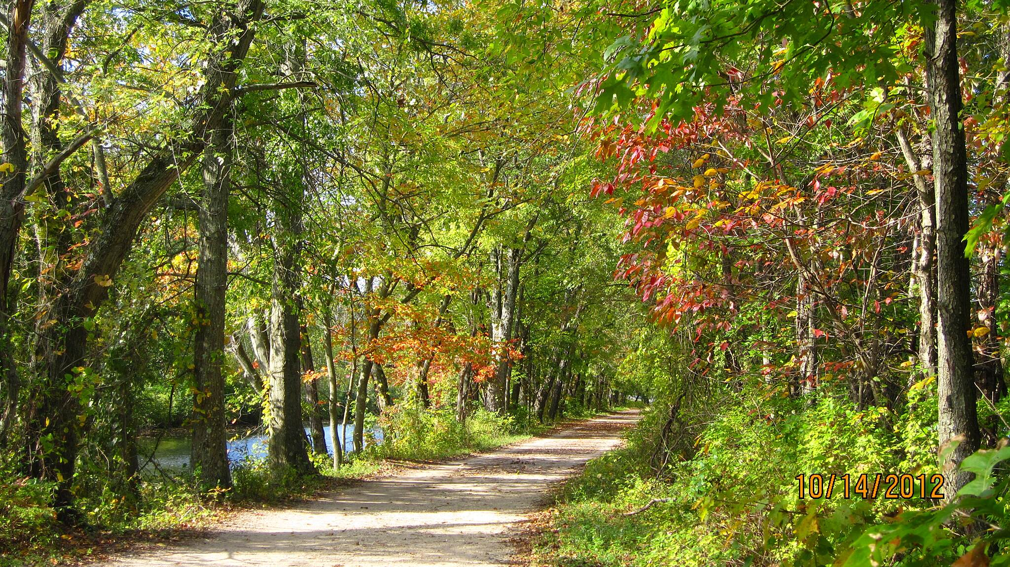 Delaware and Raritan Canal State Park Trail Fall at Princeton