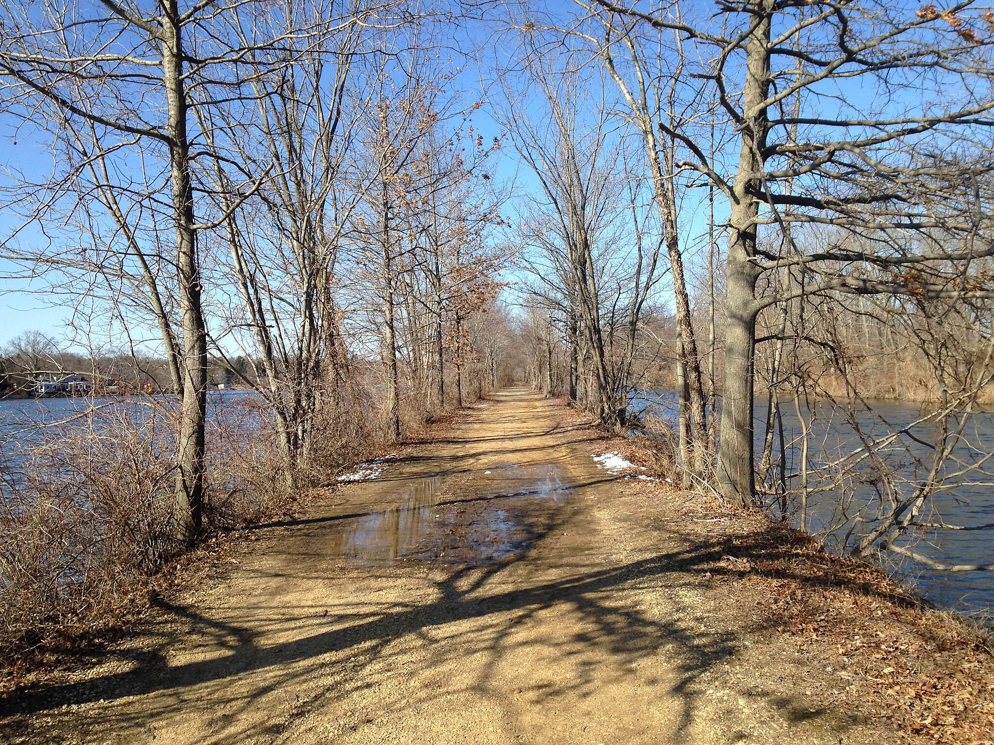 Delaware and Raritan Canal State Park Trail spring is coming!