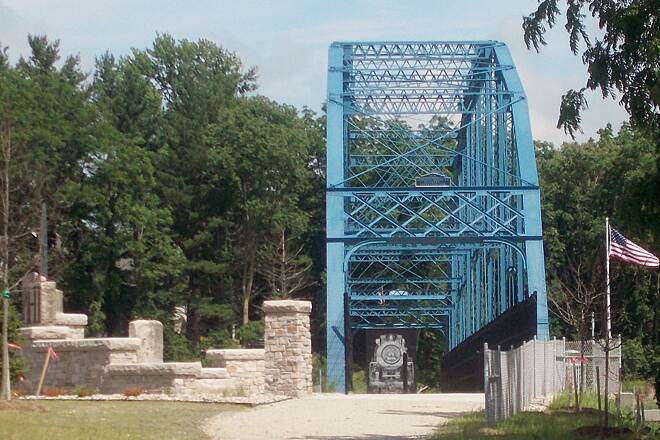 Delphi Historic Trails Freedom Bridge over IN 25