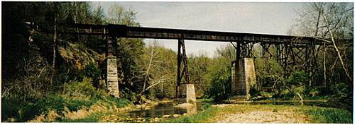 Delphi Historic Trails The Monon High Bridge The 1880s iron bridge over Deer Creek