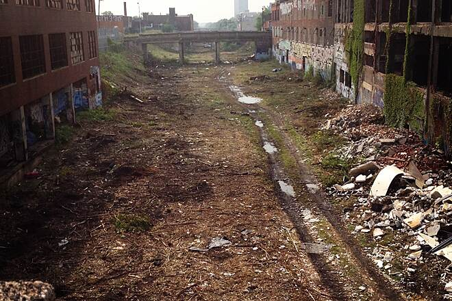 Dequindre Cut Greenway Ready for Phase 2! Work is already underway on extending the Dequindre Cut north from Gratiot Ave to Mack Ave. Here's the 'before' photo - we can't wait to see the 'after!'