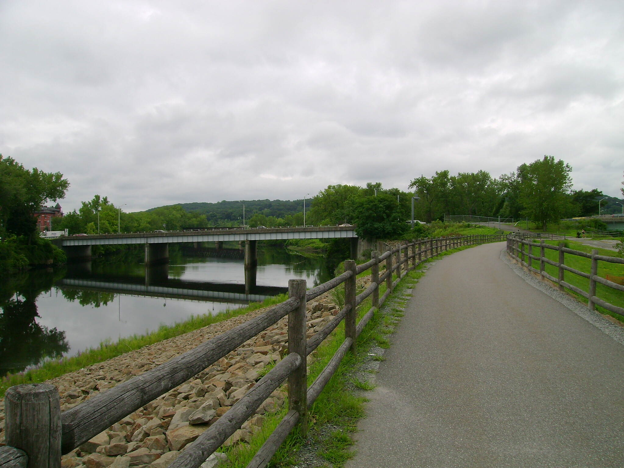 Derby Greenway Derby Greenway with a view of the Naugatuck River