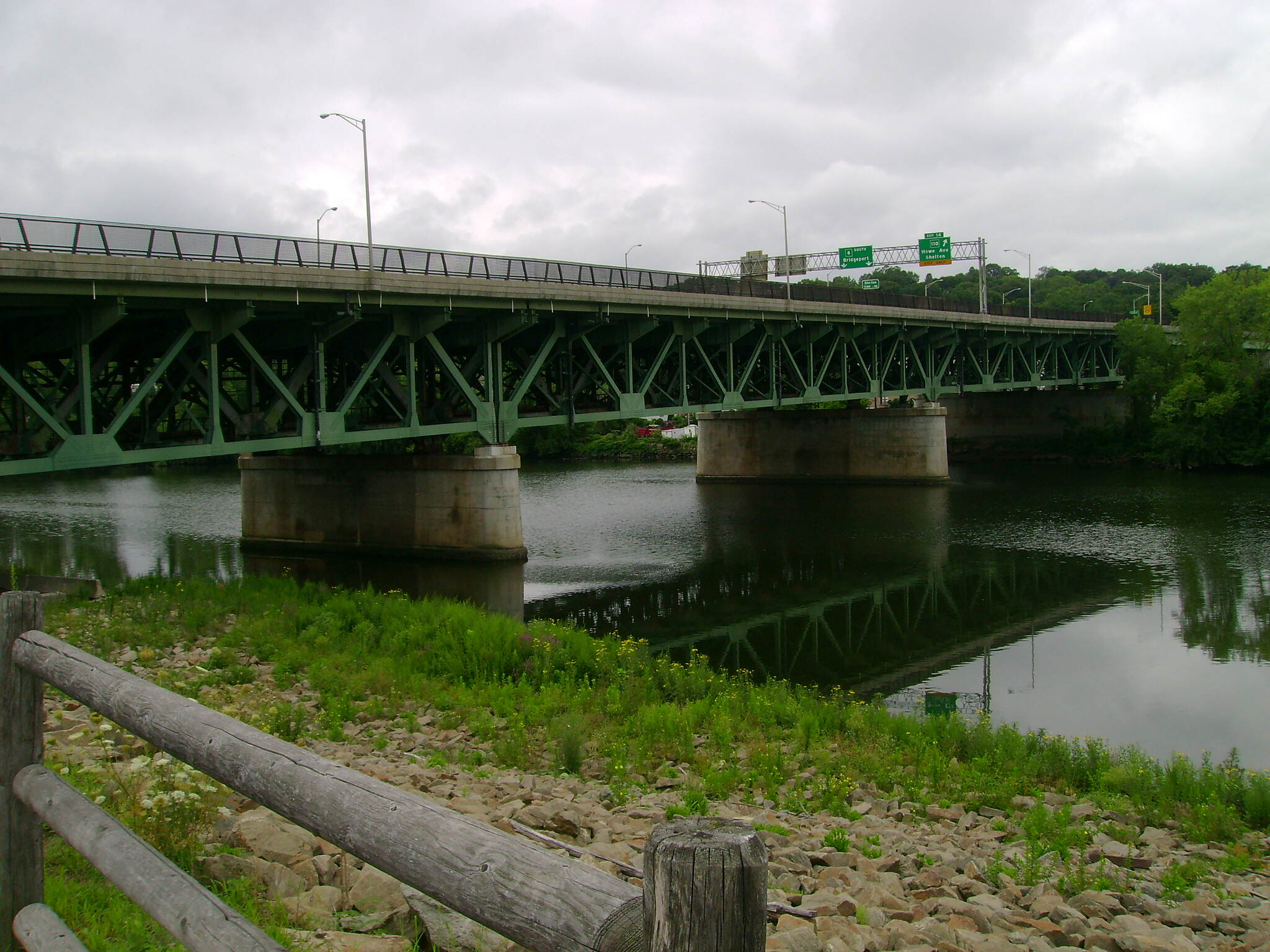 Derby Greenway Route 8 bridge crossing the Housatonic River