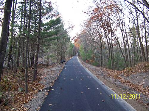 Derry Rail Trail Newly Paved Section New Section Opened November 2011