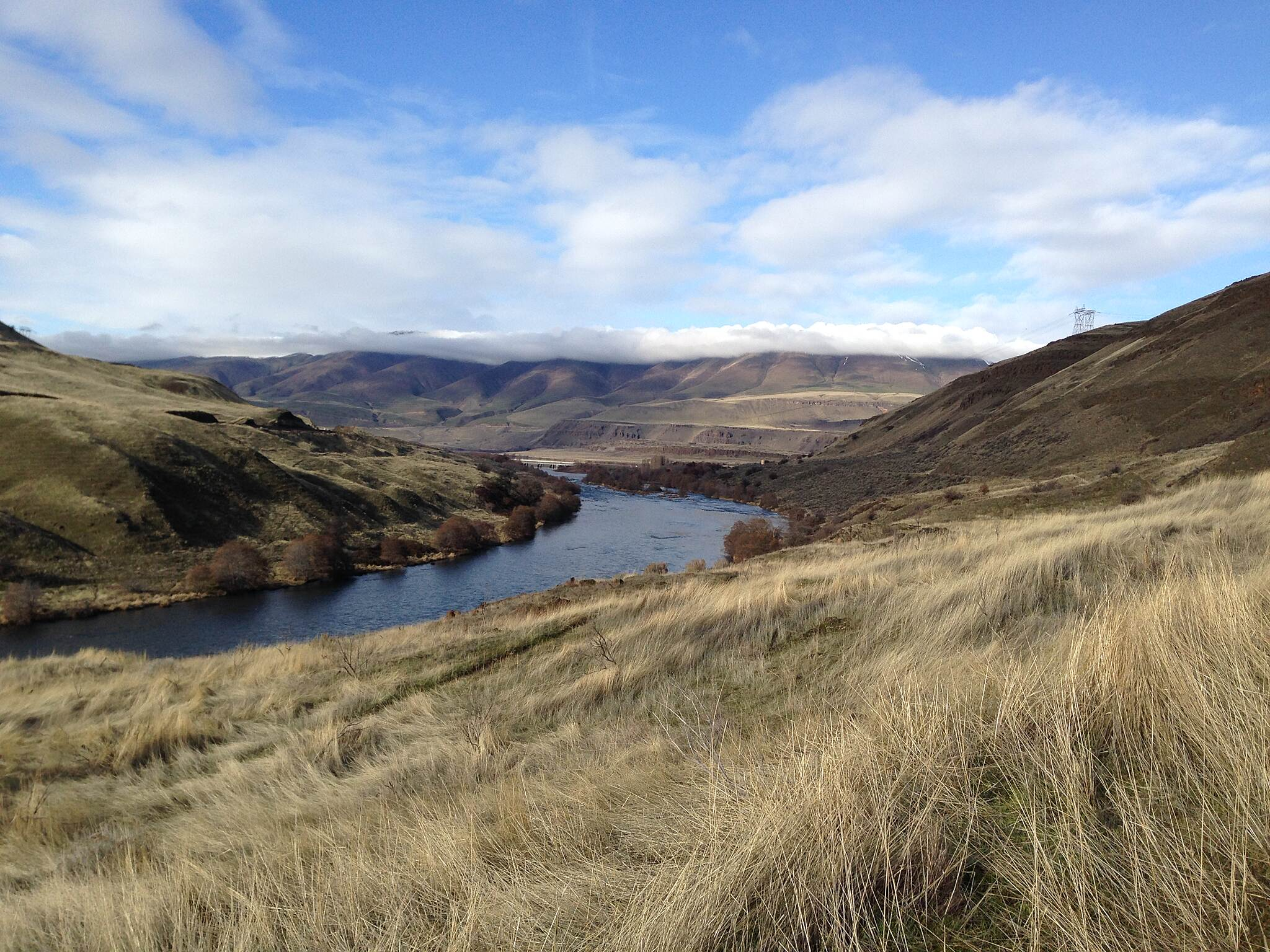 Deschutes River Railbed Trail Looking North