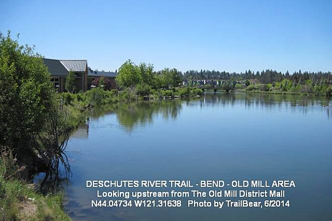 Deschutes River Trail DESCHUTES RIVER TRAIL  Looking upstream in the Old Mill District.