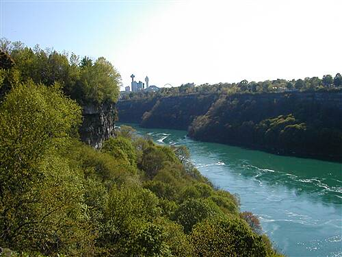 Devil's Hole Trail View From Niagara Gorge Rim Trail 2 This picture was taken looking upstream towards Niagara Falls