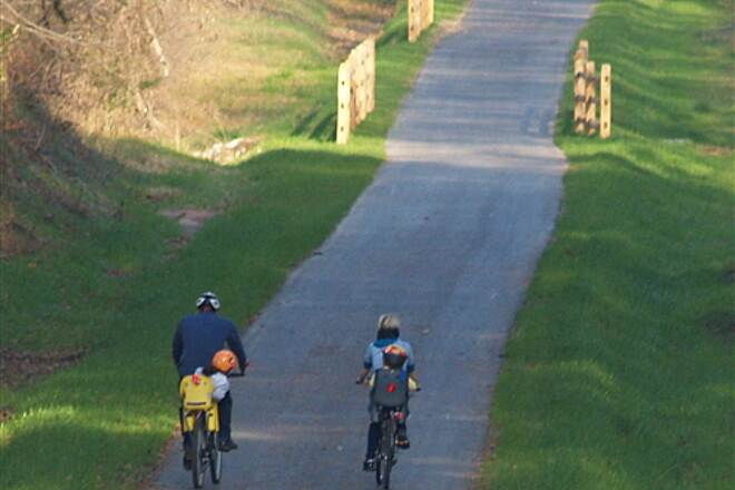 Dick & Willie Passage Rail Trail Dick & Willie Passage Rail Trail A family biking the Dick & Willie Passage Rail Trail